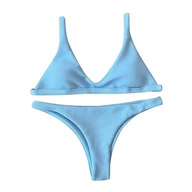 POLP Ropa de baño Bikini brasileño Mujer 2019 Braga Alta Push up Tangas Sexys Mujer Algodon Mujer Bañadores de Mujer Natacion Traje de baño: Amazon.es: Ropa ...