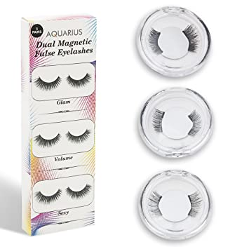 f05c543f420 Aquarius Double Glam, Volume and Sexy Magnetic Eyelash, Lightweight,  Reusable, Designed to