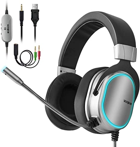 3.5mm Over ear Headphone Gaming Headset