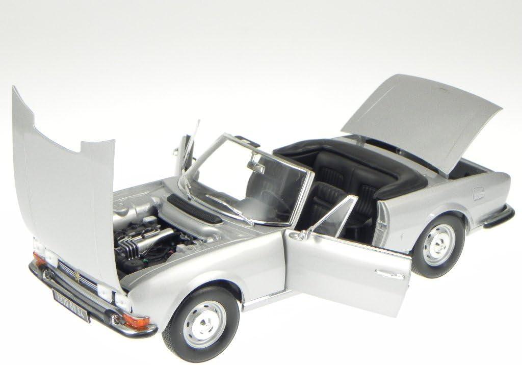 NOREV 184777 1971 PEUGEOT 504 CABRIOLET 1//18 DIECAST MODEL CAR SILVER GREY