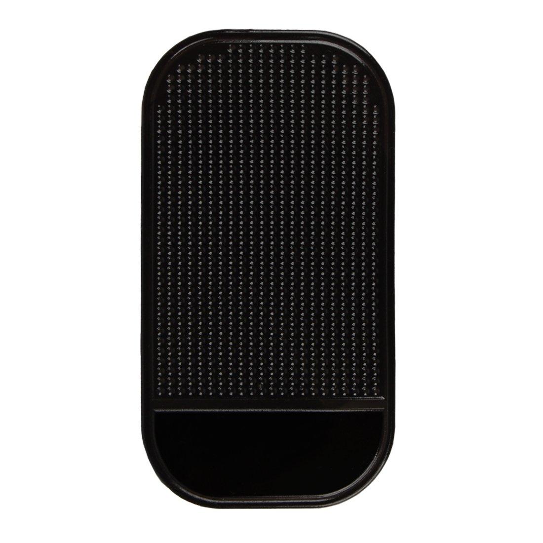 Andux Zone Voiture antidé rapante Tapis Support Caoutchouc pour té lé phone Portable MP3 MP4 CZFHD-01 (Noir, 1 piè ce) 1 pièce)