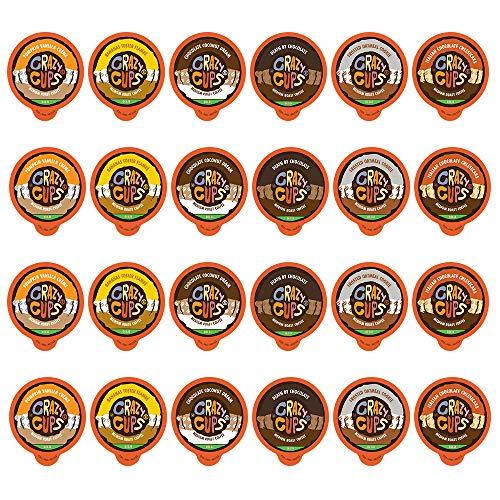 - Crazy Cups Decaf Flavored Coffee, Flavored Lovers Variety Pack, Single Serve Cups for Keurig K Cup Coffee Maker, 24 Count