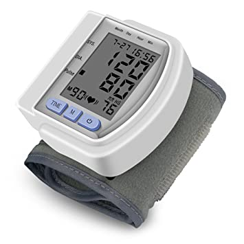 Portable Digital Blood Pressure Monitors Automatic Wrist Meter Irregular Heartbeat Wrist Cuff Sphygmomanometer