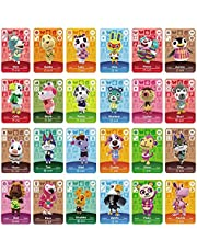 Botw NFC Tag Game Cards for Animal Crossing New Horizons Switch/Switch Lite/Wii U, 24pcs Mini Cards with Crystal Case