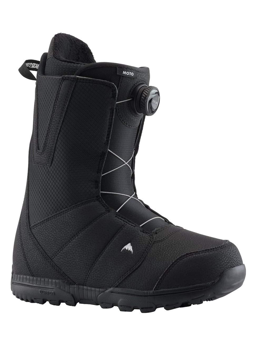 47 EU Black Burton Herren Moto Boa Snowboard Boot Schwarz