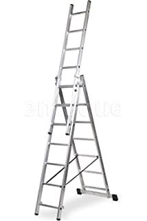 Escalera Profesional de Aluminio Triple Tijera con Tramo ...
