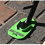 Badass Moto Gear Motorcycle Kickstand Pad - Green - American Made in USA. Durable Biker Kick Stand Coaster/Support Plate Color Choices. Rest or Park Your Bike on Hot Pavement, Grass, Soft Ground