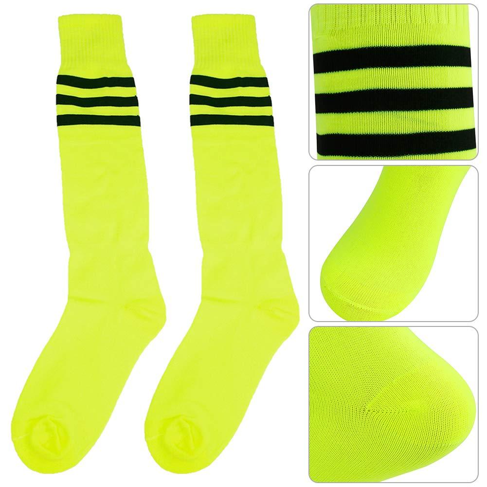 Long Tube Soccer Socks Diwollsam Unisex 2//6//10 Pairs Knee High Football Volleyball Cheerleading Team Sport Uniform Socks