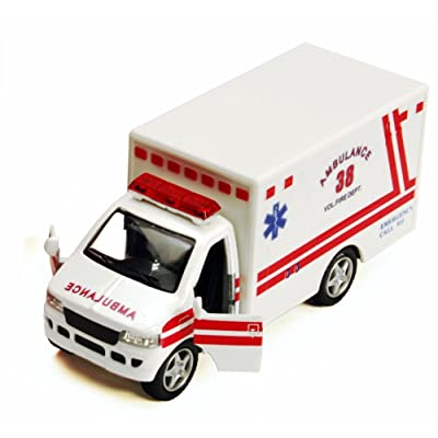 "Rescue Team Ambulance, White - Kinsmart 5259D - 5"" Diecast Model Toy Car: Toys & Games"