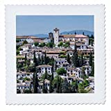 3dRose Danita Delimont - Spain - Spain, Andalusia. Granada. View across a spanish town. - 22x22 inch quilt square (qs_277890_9)