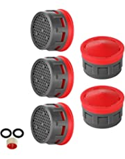 JQK Faucet Aerator, 2.2 GPM Flow Retrictor Insert Faucet Aerators Replacement Parts Bathroom 5 Pack, Standard Size, FAN22-P5