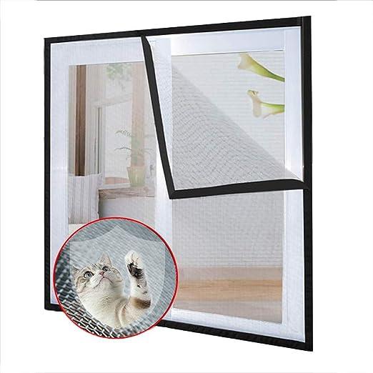 Ezoon - Red de seguridad para ventana de gato, mosquitera, semitransparente, rejilla de malla para gatos y pájaros de gato, autoadhesivo de velcro, corte para adaptarse: Amazon.es: Productos para mascotas