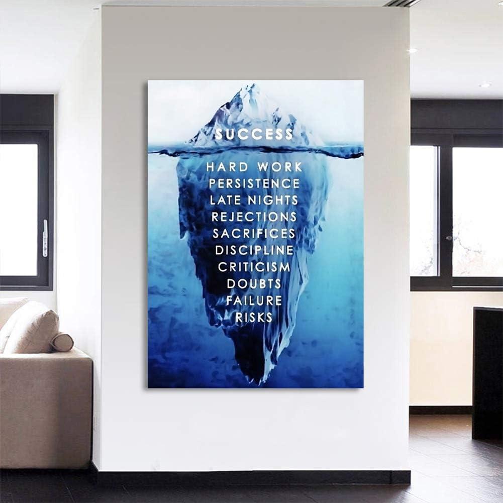 KKJJ Moderna Cuadro Decorativo Canvas Imprimir Imagen Iceberg Lienzo Motivacional Póster Abstractos En Lienzo, Un Gran Regalo para Sus Amigos Y Familiares, Sin Marco,45 * 60CM