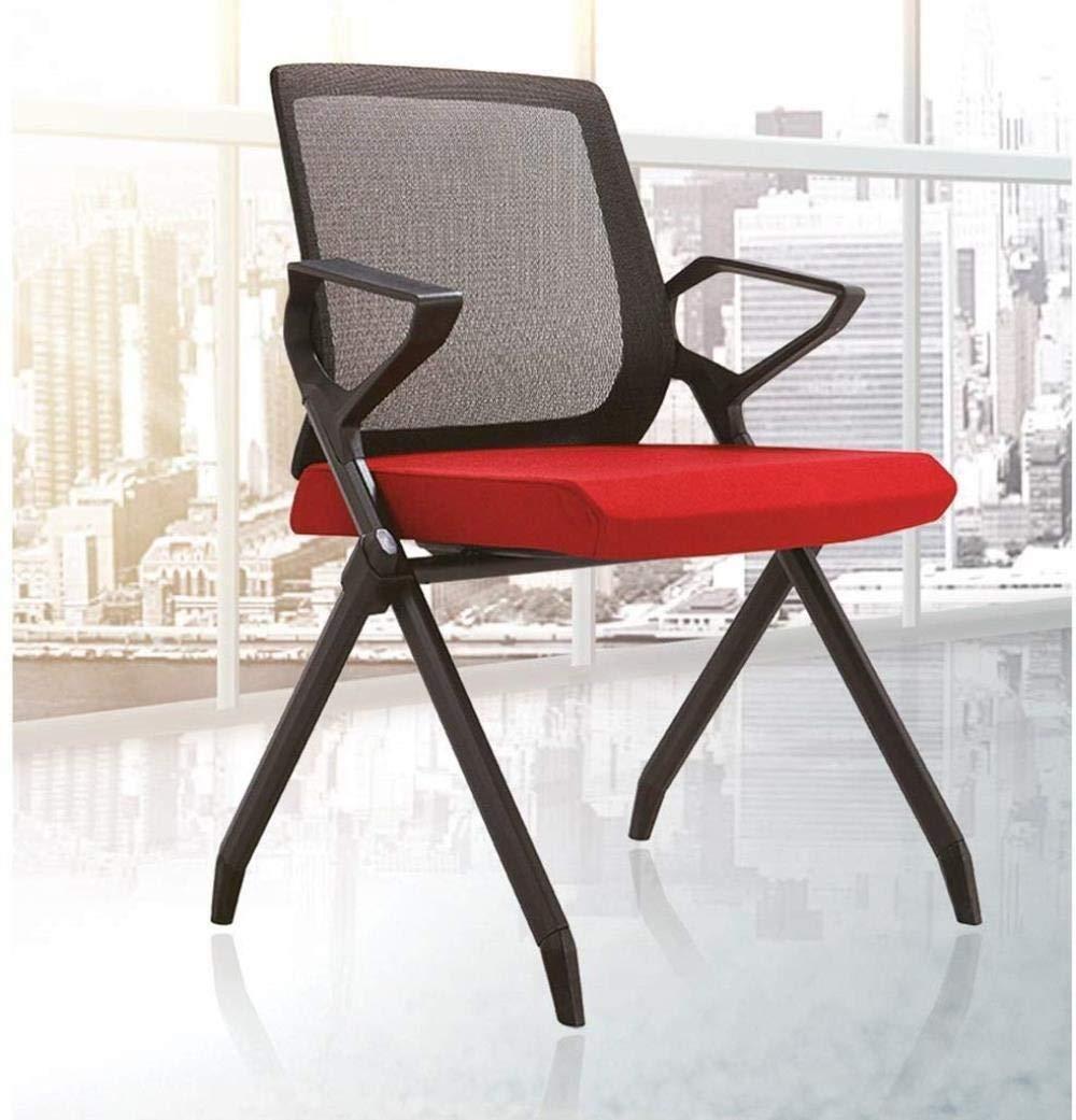 Kontorsstol LHY exklusiv träningsstol hopfällbar stol mobil konferensstol hållbar (färg: Grön) Röd