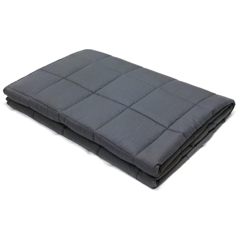 Esee Home Weighted Blanket Soft 100% Baumwolle mit Glasperlen Great Sleep Therapie für  Herrenchen mit Angst Autismus ADHS Insomnia oder Stress Premium gewichtete Decke (41