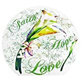 Stony Creek 6'' Lighted Round Glass Vase Folk-Art Faith Love And Hope GFF8261