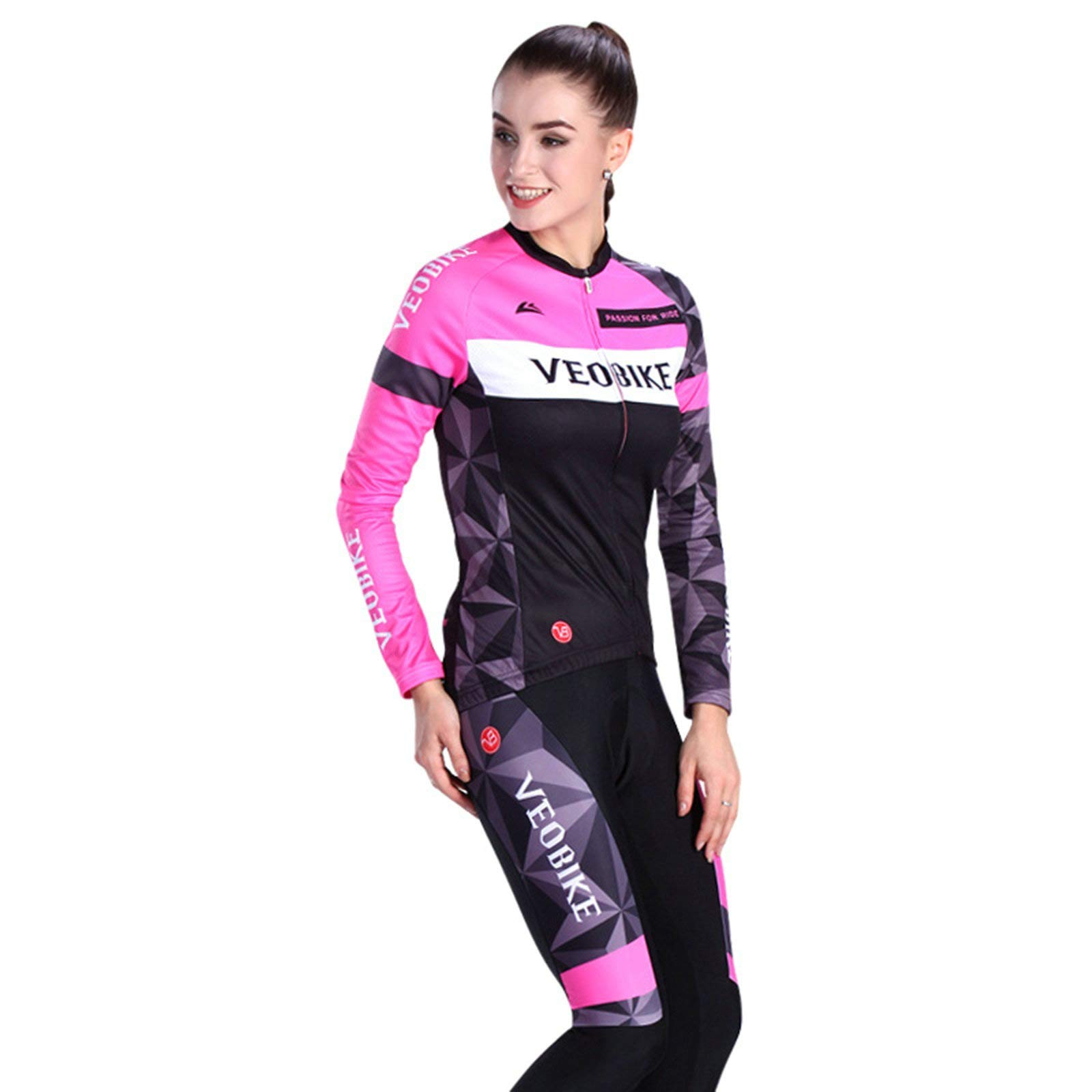 Aooaz Women Cycling Set Shirt and Tights Size S