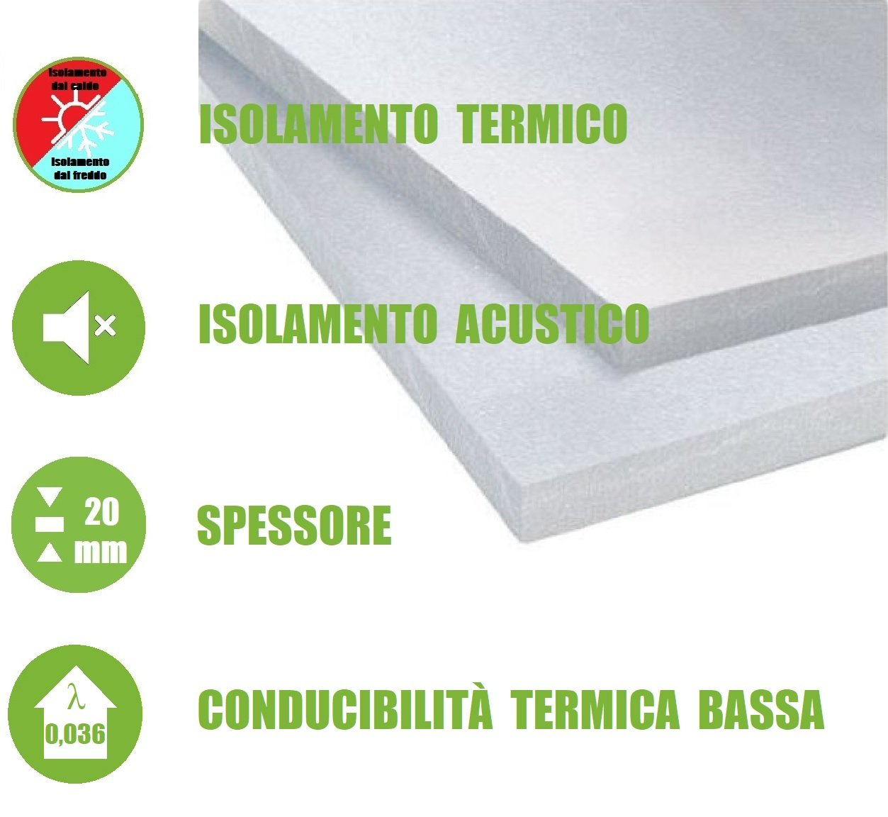 italfrom –  Paneles EPS 100 poliestireno aislante té rmico poliestireno 100 x 50 x 2 cm (unidades 10 piezas)