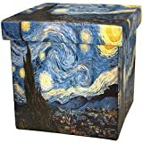 Oriental Furniture Van Gogh Starry Night Storage Ottoman For Sale