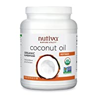 Nutiva Organic Steam-Refined Coconut Oil, 78 Fluid Ounce | USDA Organic, Non-GMO, Fair Trade | Vegan, Keto, Paleo | Neutral Flavor and Aroma for Cooking & Natural Moisturizer for Skin and Hair