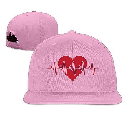 Vidmkeo Logotipo de Latido del corazón Unisex Algodón Snapback Hip Hop Lengua Plana Sombreros Gorras de