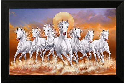 NOBILITY Seven Lucky Running Vastu Horses Painting