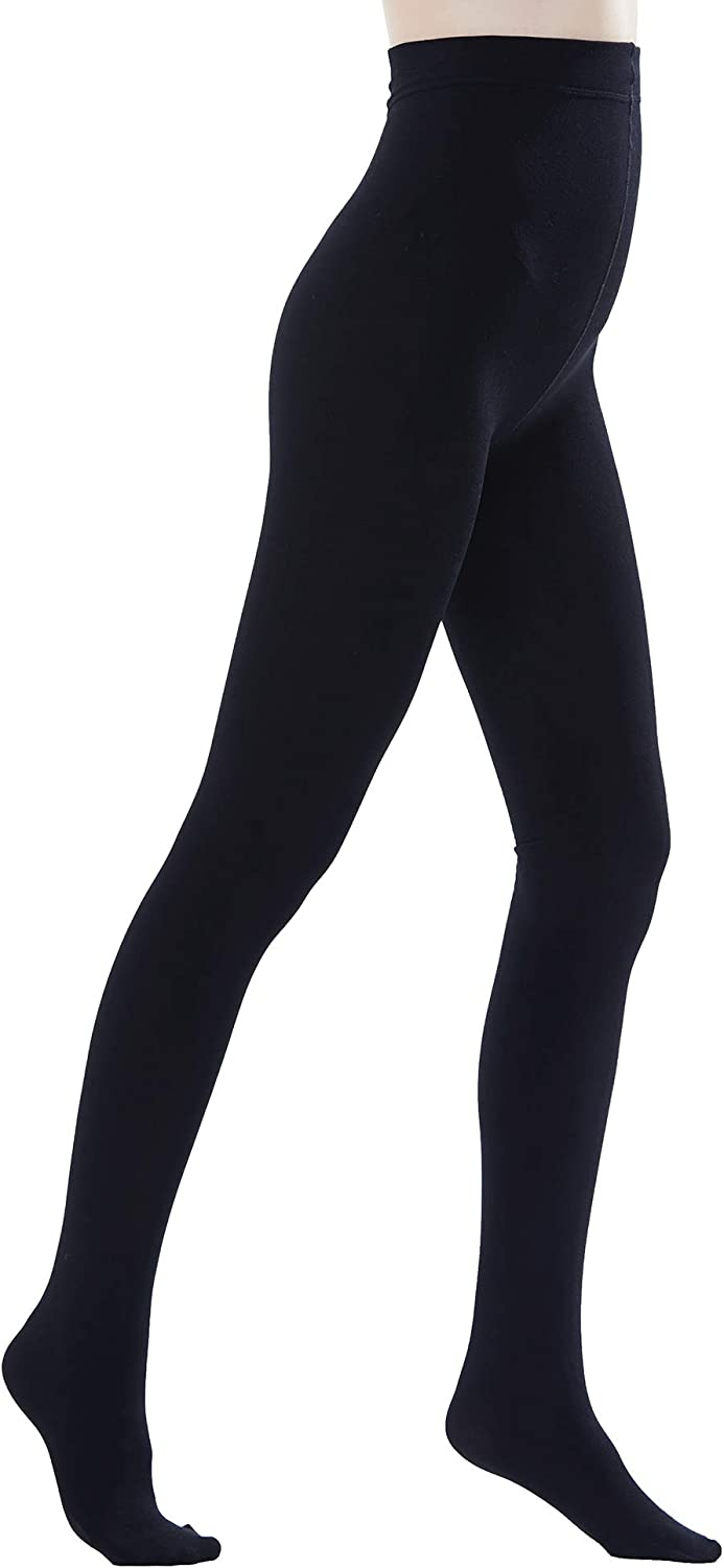 Black Color Size:Tall Women/'s DKNYC 2 Pack Super Opaque Tights