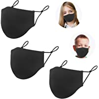 Cloth 3 Layers Reusable Face Protector, Kids Adjustable Size Face Bandanas, Washable Breathable Comfort Mouth Shield for…