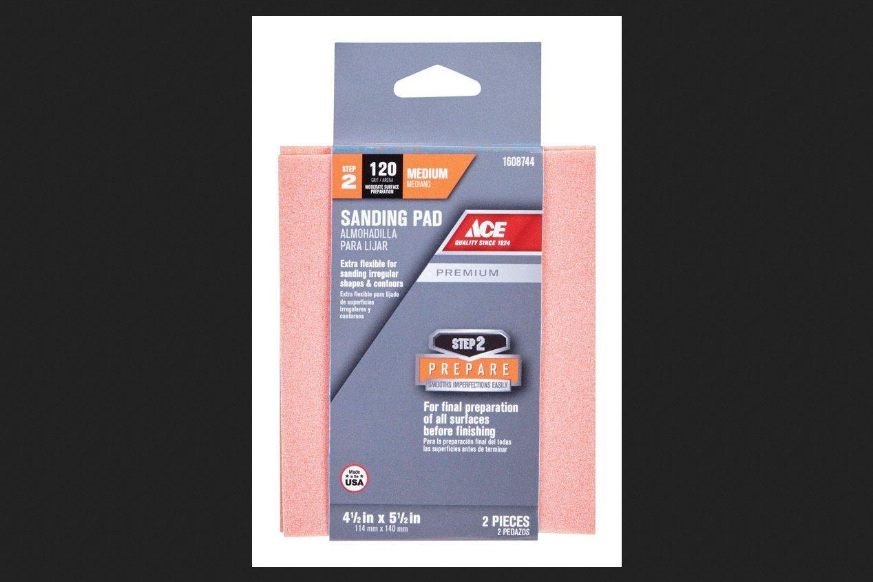 Ace Premium Aluminum Oxide Sanding Pad 5 in. L Medium 120 Grit 2 pk