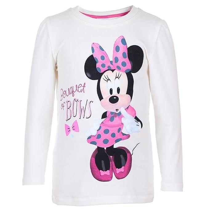 DISNEY Niñas Minnie Mouse Sudadera, blanco, talla 128, 8 años: Amazon.es: Ropa y accesorios