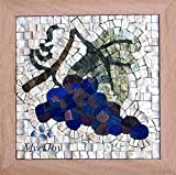 DIY MOSAIC KIT Four Seasons Fall 9''x9'' Arts and Crafts for adults/Different gifts/Kitchen decor grapes/Feng Shui wealth/Creative hobbies/Puzzle games/Mosaic making kit marble & glass tiles