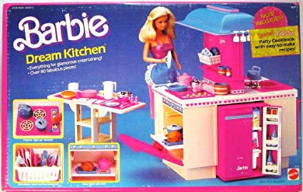 Amazon Com Barbie 1984 Dream Kitchen Set No 9119 Toys Games