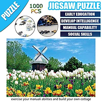 1000 Pieces Jigsaws Picture Puzzles, VECDUO Wooden Assembling Games Educational Toys: Home & Kitchen