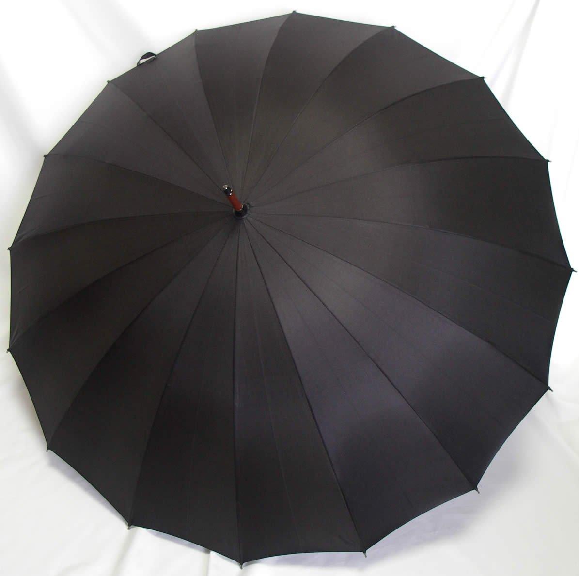 前原光栄商店 前原傘 紳士用 ブラック 焼籐 B00A2EUY3W