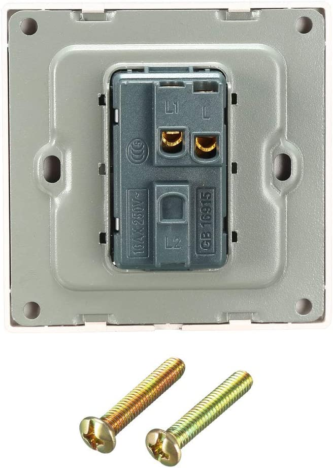 sourcing map Interruptor de bot/ón de timbre Reajustable Cuadrado Dorado Champ/án AC 250V 16A