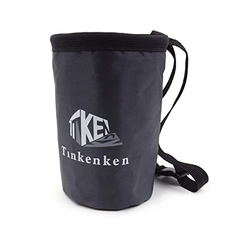 Outdoor Recreation Tinkenken Chalk Bag for Rock Climbing with Adjustable Belt and Zippered Pocket for Weight Lifting Bouldering Gymnastics Chalk Bags