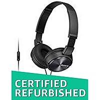 (Renewed) Sony MDR-ZX310AP On-Ear Headphone with Mic (Black)