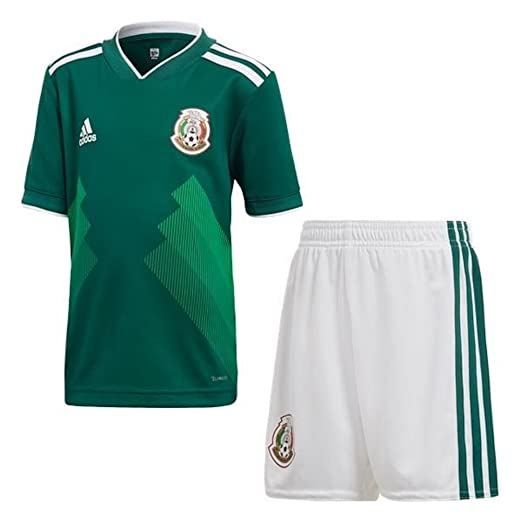 7df2522ea2e Amazon.com: adidas Mexico Home Soccer Mini Kid Set World Cup 2018 ...