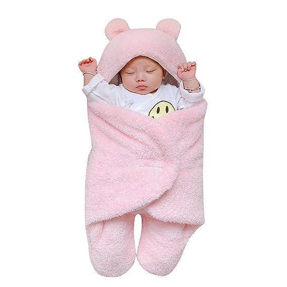 Swaddle Bebé, LANSKIRT Recién Nacido Bebé Niño Niña Lindo Algodón Sólido Manta de Dormir Envolver Swaddle Dibujos Animados Lana de Cordero Manta: Amazon.es: ...