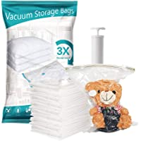 Premium Heavy Duty Space saver vacuum storage sealed bag with free pump. Pack of 8 (3x Jumbo 2x Large 3x Medium…