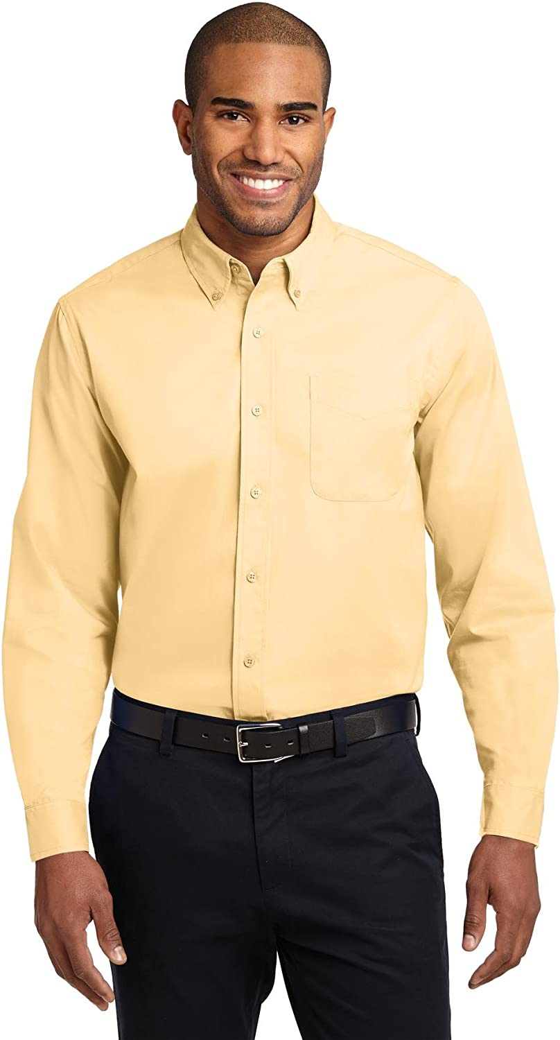 Port Authority Extended Size Long Sleeve Easy Care Shirt S608ES Yellow 7XL