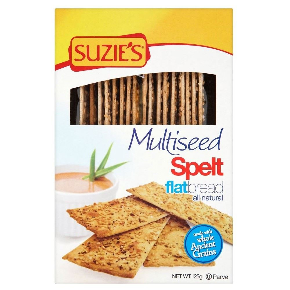Suzies Spelt Multiseed Flatbreads (125g) - Pack of 2