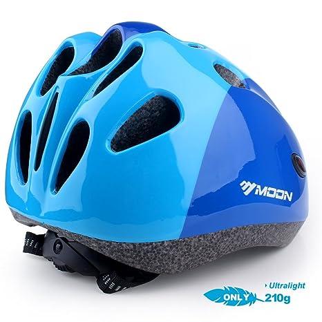 Base Camp Moon Toddler Multi-Sport Helmet for Biking Skating Skateboarding Gloss Blue