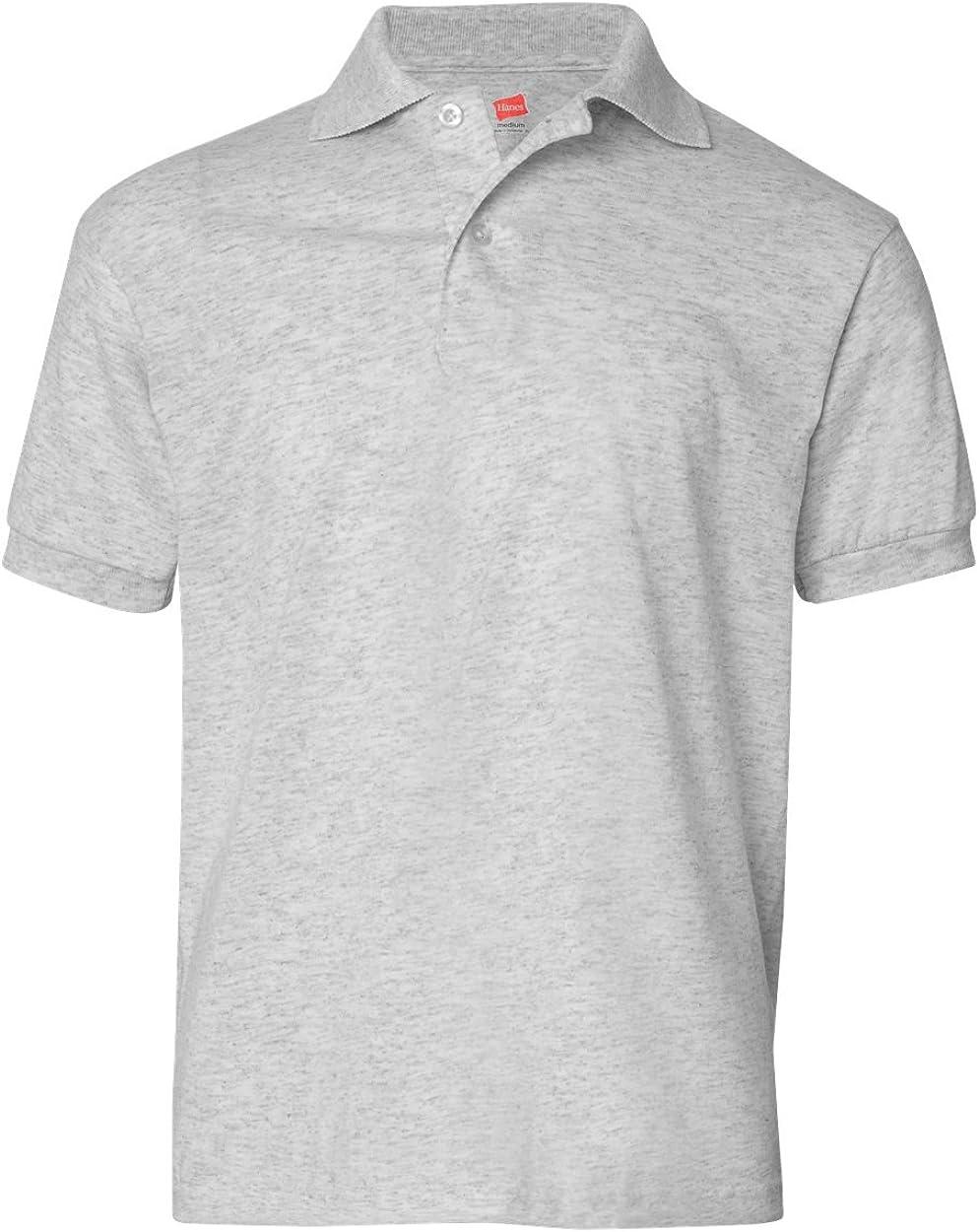 Hanes Boys Cotton-Blend Jersey Polo
