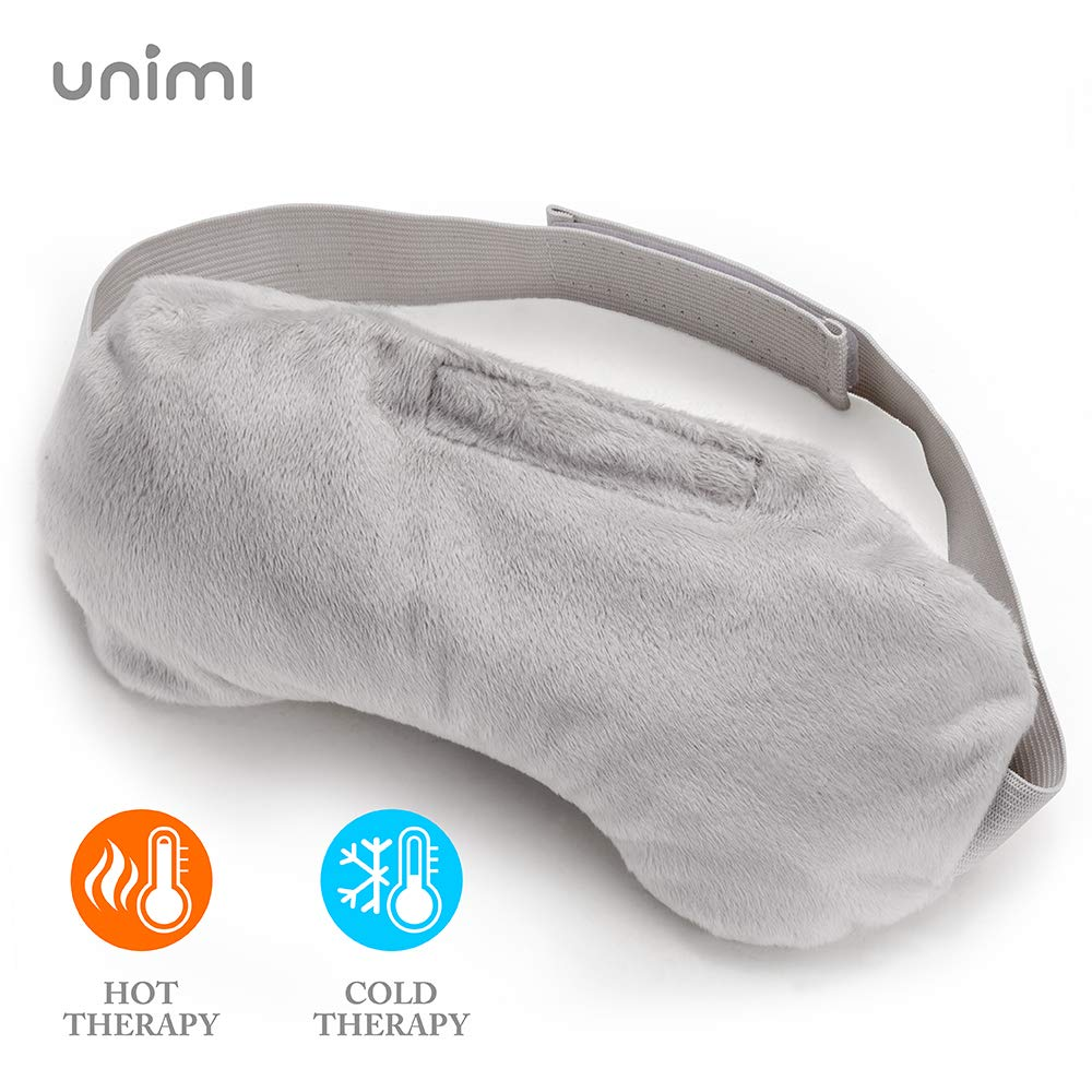Unimi Heated Eye Mask for Dry Eyes, Microwaveble Moist Eye Compress for Puffy Eyes, Pink Eyes, Headache, Migraine Relief, Sinus Pain, Bruder Eye Compress Moist Heat Eye Mask Washable & Reusable