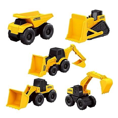 Mini Modelos de Construcción, 5Pcs Aleación Modelo Camiones ...