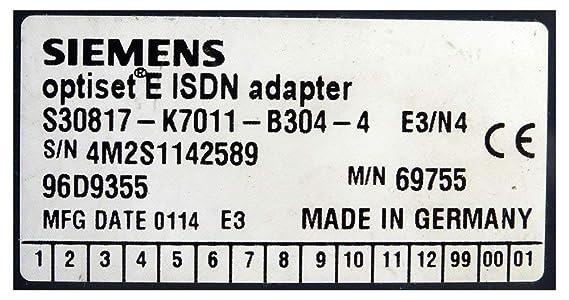Siemens optiset E ISDN Adapter S30817-K7011-B304-4