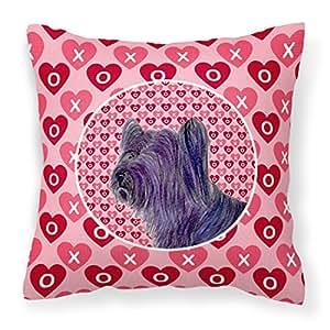 """Caroline tesoros del ss4463pw1414Skye Terrier corazones amor San Valentín almohada, 14""""x 14"""", multicolor"""