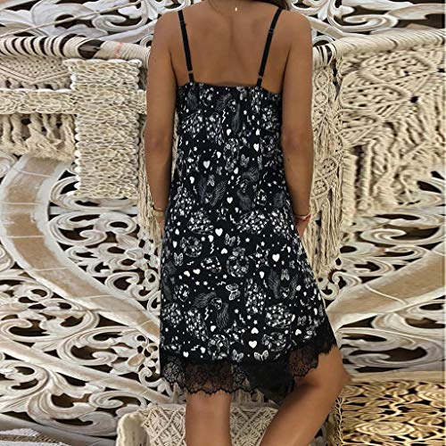 Ballad Women's Dress,Sexy Party Fashion New,Tight Sleeveless Patchwork V-Neck Sling Skirt Black by Ballad (Image #2)