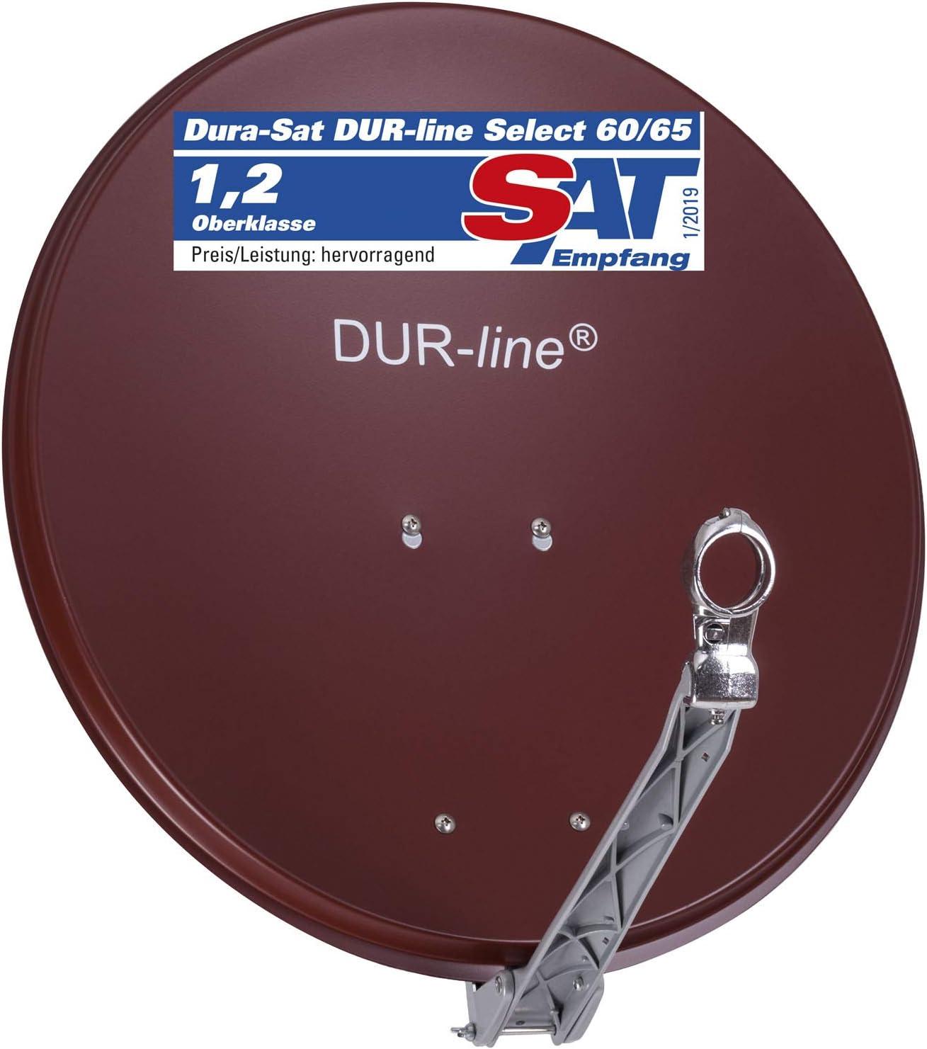 DuraSec de Line Select 75/80 cm – 3 x Prueba + Muy Bien + Aluminio satélite de Cuenco Sat de Espejo